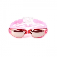 ISEEN Brand Swim Goggles for Adult Men Women Kids Child, Anti Fog UV Protection with Ear Plugs pink 18cm-6cm-5cm