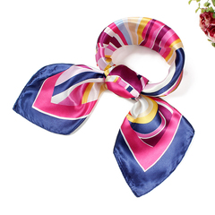 ISEEN Brand Woman's Silky Scarf Square Mixed Pattern & Colors Fashion Accessory Set blend colour