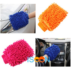2 Pieces ISEEN Brand New Car Wash Gloves Soft Gloves Towel for Car Washer and Care random delivered 18cm*15cm