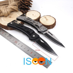 ISEEN Brand Tactical Folding Knife Camping Hunting Pocket knives Outdoor Survival Rescue  black 15cm