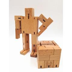 IseenTech Brain Teaser Puzzle,Wooden Magic Cube Robot -MultiColour wooden 6cm*6cm*6cm