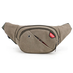 ISEEN Brand Canvas Waist Bags with earphone Men/Women Belt Bag Men Handy Waist Pack Travel Bag Army Green 38cm*8*17cm