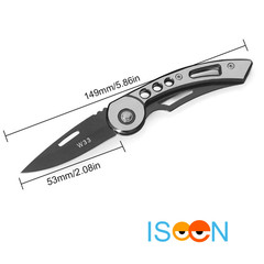 Survival Knife Mini Portable Key Fold Camping Tactical Folding Pocket Ring Outdoor Tools Hunting white 149mm
