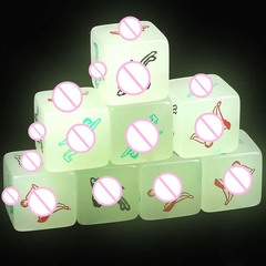 2Pcs Sex Luminous Dice Toys for Adults Funny Glow Love Dice Toys Adult Couple Games Lovers Sex Party green pattern a