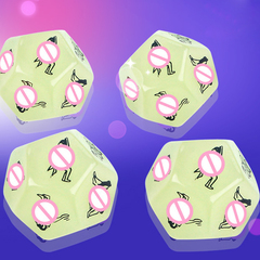 Large 25mm Funny Sex Dice 12 Positions Romance Love Humour Gambling Yoga action dice Gambling green pattern a