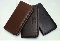 Wallet Womem/Men leather Wallets Business Brand Card holder Coin Purse Men's Long Zipper brown 20cm*11cm