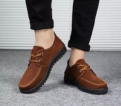 chaussure homme sapato masculino casual canvas breathable lace-up solid loafers rubber chocolate 42