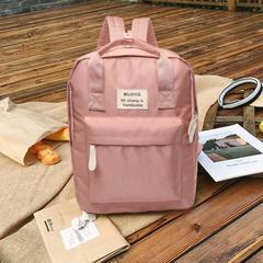 Fashion Simple Wild Lady Backpack College Campus Backpack Computer Bag Travel Pink Backpack pink 30*12*36.5cm
