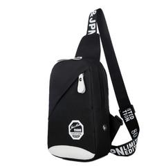 Men Chest Bag Pack Travel Hiking Cross Body Messenger Shoulder Sling Sport Crossbody Handbag black A 25cm*22cm*5cm