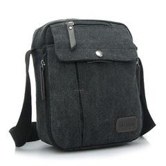High Quality Classical Multifunction Men Canvas Bag Travel Men's Crossbody Bag Men Messenger Bags black 35cm*13cm*29cm