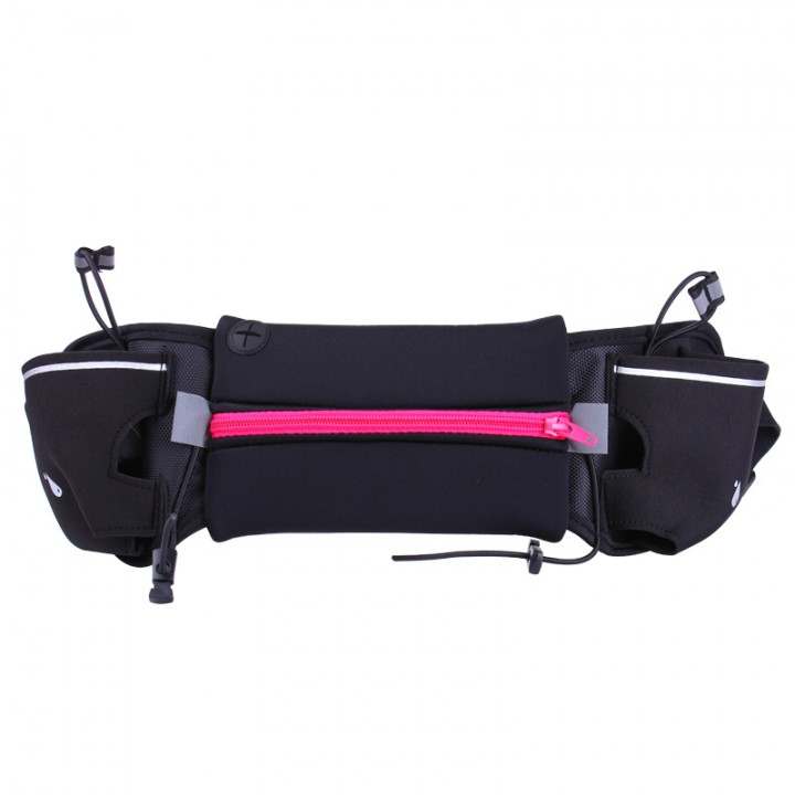 outdoor movement kettle pockets waterproof Anti-theft Mobile phone bag waterproof  Multifunction rose red large