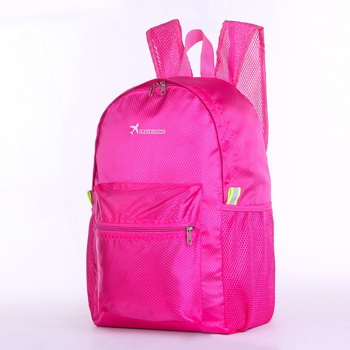 Travel Outdoor Double Backpack Vacation Xamping Climbing Many Features Incorporated Fold Package rose red large