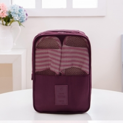 Travel Shoes Package Many Features Incorporated bag Carry Convenience Red wine large