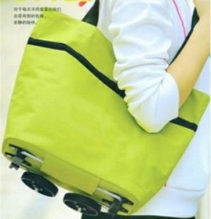 fashion home many Features Tugboat bag  fold  shopping shopping travel Incorporated bag pure green