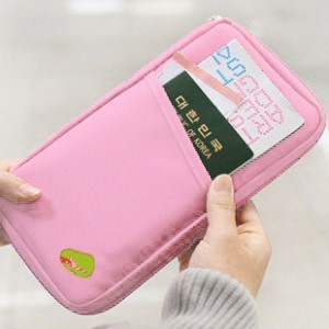 Travel Documents Folder Card Pack Many Features Many Features Passport Package pink one size
