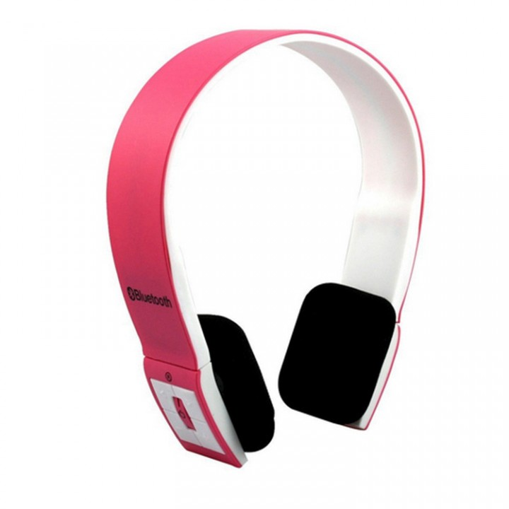 Bluetooth Headphones wireless Wearing style Bluetooth Headset stereo movement Ears Subwoofer General pink