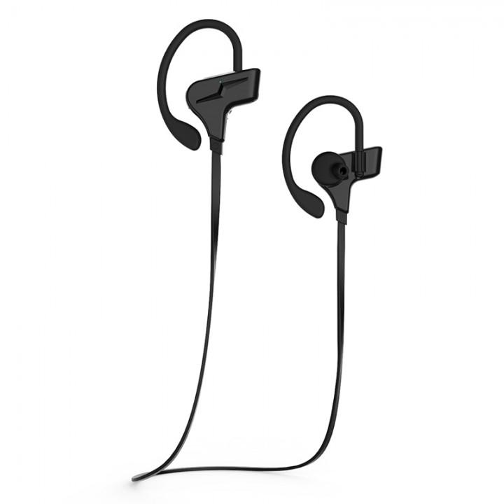 outdoor movement waterproof Bluetooth headset movement wireless Hanging ear test Ears stereo black