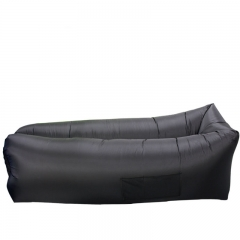 Square Inflatable lazy Side bag sofa Portable outdoor Beach rest air sofa Foldable camping black