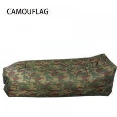 Square outdoor Beach Inflatable sofa  Foldable rinse Single and double lazy Nap artifac camouflage