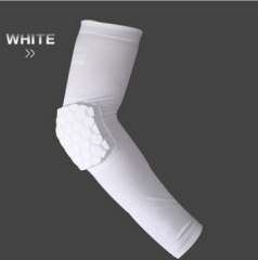 Elbow basketball equipment Protector Ultra thin Lengthened Breathable Elasticity Tight  Arm white XL