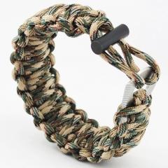 Seven core Umbrella rope Bracelet  Multifunction Flintstones Camping Wristband Outdoor Survive Camouflage one size