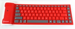 Mobile Phone Flat Computer General Wireless Bluetooth Waterproof Foldable Silica Gel Soft keyboard red one size