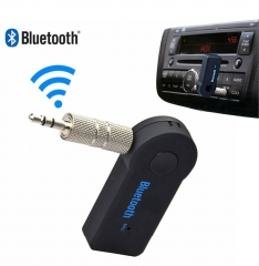 Car Wireless Bluetooth Audio Receiver Adapter Car AUX Bluetooth Music Receiver   Stereo black one size