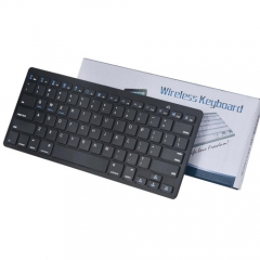 Bluetooth Keyboard Ultra thin Portable Mini wireless Keyboard  Flat Multimedia Computer Keyboard black one size