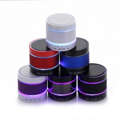 Wireless LED Bluetooth Speaker Mobile Phone Mini Portable Bass Card Radio Outdoor Sound silver