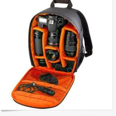 outdoor photography SLR Digital camera bag backpack travel Photography bag Black orange one size