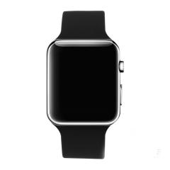 Outdoor Swim Waterproof Silica gel LED Watch fashion Student Apple Mirror digital Watch gray one size