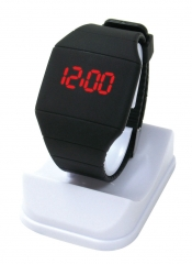 Ultra Thin Plastic led Electronic Watch Fashion Trend Leisure Watch black one size