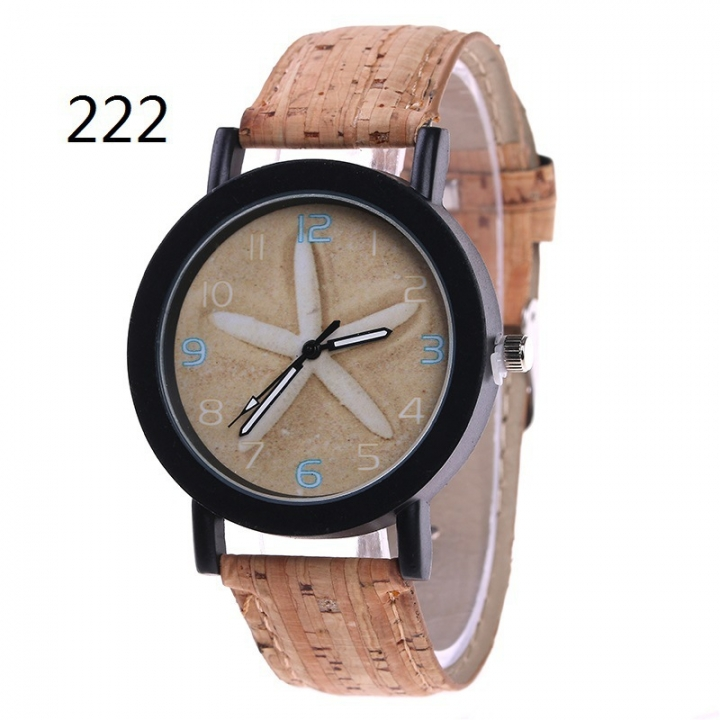 Ms Flowers Color Printing Belt Watch Personality fashion Watch Watch quartz Watch 222