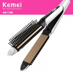 Straightener Combo hair curler  electric Curly hair comb Perm Ms Home Curly hair comb black one  size