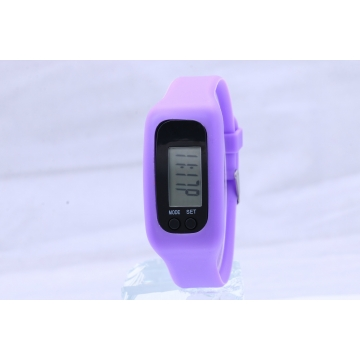 Led Multifunction fashion movement Pedometer Hand ring table Silica gel gift Watch purple