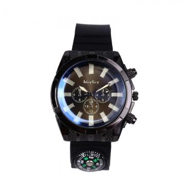 Fashion Straps  Off-road compass Watch  field adventure male Watch black men