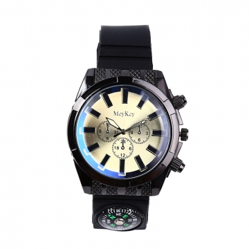 Fashion Straps   Off-road compass Watch  field adventure male Watch white men