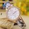 Fashion Student Watch Quartz Female Watch diamond Fashion Double Heart Striped Watch 2