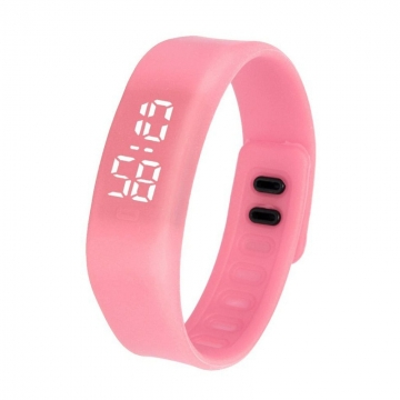 Fashion Silica Gel led Watch Student Watch Electronic Watch pink one size