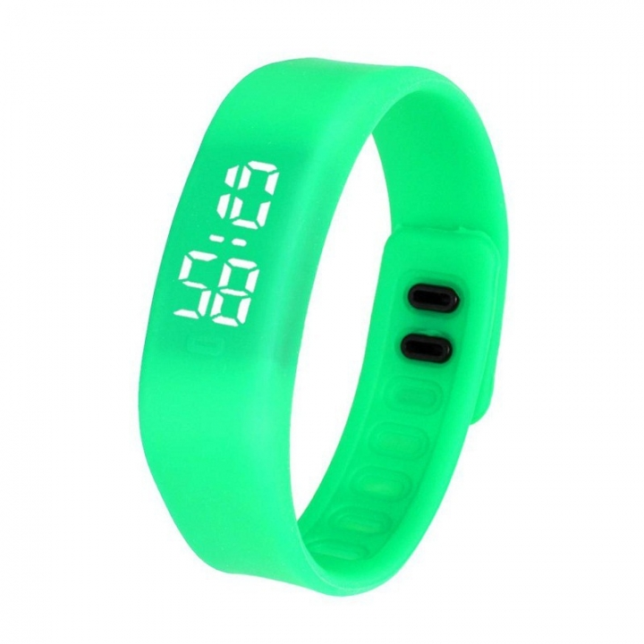Fashion Silica Gel led Watch Student Watch Electronic Watch green one size