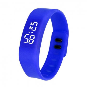 Fashion Silica Gel led Watch Student Watch Electronic Watch blue one size