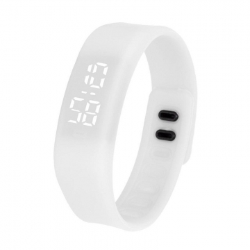 Fashion Silica Gel led Watch Student Watch Electronic Watch white one size