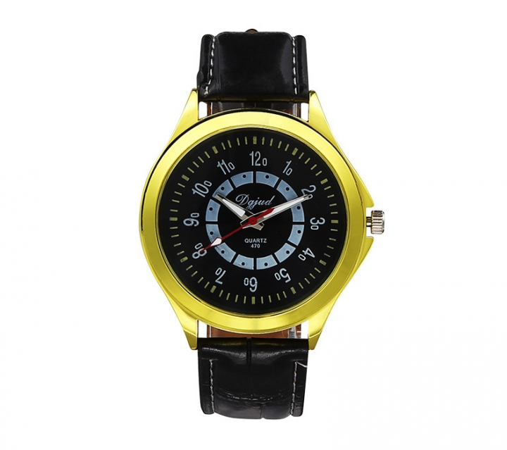 Couple Watch  Business General men and women fashion Belt Watch yellow