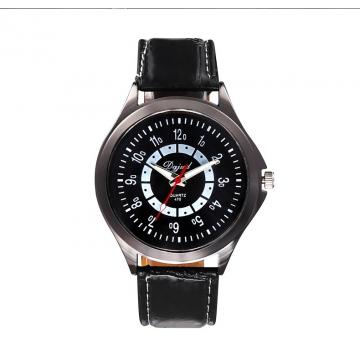 Couple Watch  Business General men and women fashion Belt Watch black