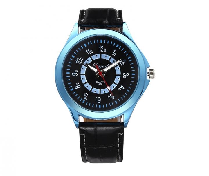 Couple Watch  Business General men and women fashion Belt Watch light blue