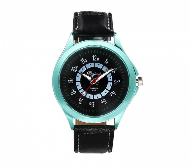 Couple Watch  Business General men and women fashion Belt Watch green