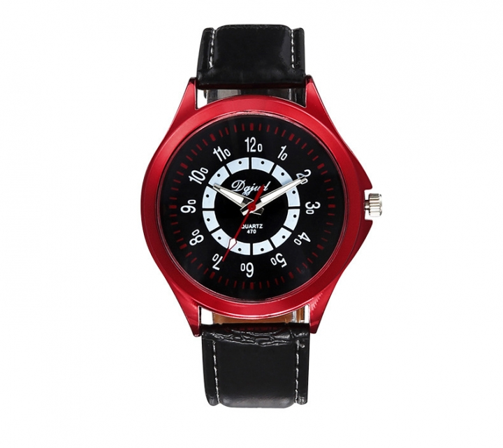 Couple Watch  Business General men and women fashion Belt Watch red
