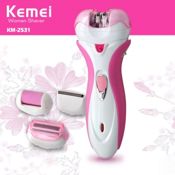 Plucking Hair removal device Four in one Haircut Grinding footers Shaving device rose red