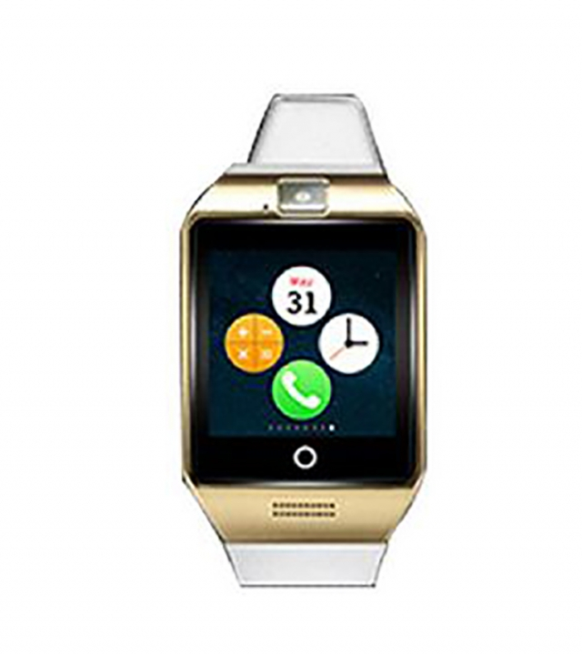 Bluetooth intelligent Watch NFC Support SIM card Memory card With camera white gold one size