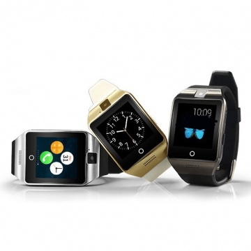 Bluetooth intelligent Watch NFC Support SIM card Memory card With camera black gold one size